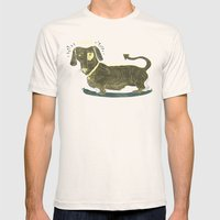Bad Dog! (The Little Dachshund That Didn't) Mens Fitted Tee Natural SMALL