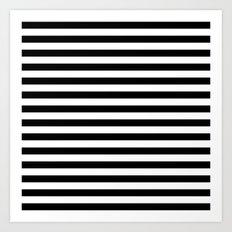 Modern Black White Stripes Monochrome Pattern Art Print