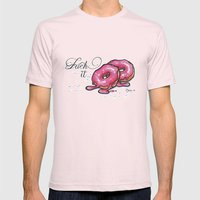 Dieting Sucks Mens Fitted Tee Light Pink SMALL