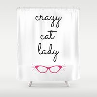 Crazy Cat Lady - Cat Eye… Shower Curtain