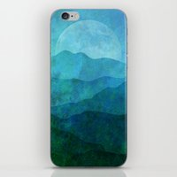 Blue Abstract Landscape iPhone & iPod Skin