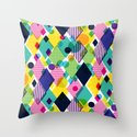 Geo Brights Throw Pillow