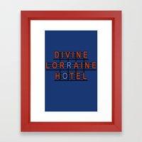 Divine Lorraine Hotel Framed Art Print