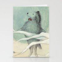 dog Stationery Cards featuring dog by maria elina