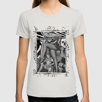 MISTRESS Womens Fitted Tee Silver SMALL