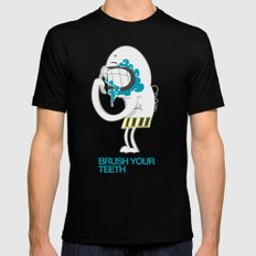 Brush your teeth SMALL Black Mens Fitted Tee