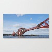 Forth Rail Bridge  - Fife, Scotland Canvas Print