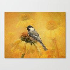 Little Chickadee Canvas Print