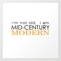 Middle Age Is The New Bl… Art Print