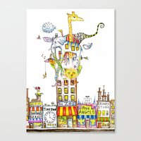 Odd Neighborhood (color) Canvas Print