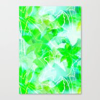 Tropical green Canvas Print