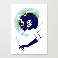 Retropolitan (cool) Canvas Print