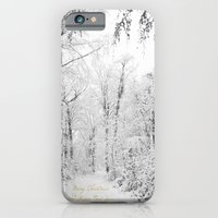 iPhone & iPod Case featuring Happy snow by Delphine Comte