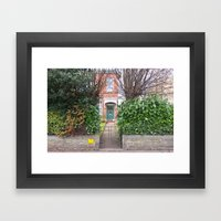 Into the house Framed Art Print