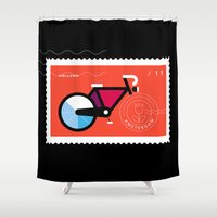 Postcards from Amsterdam / Bicycle Shower Curtain