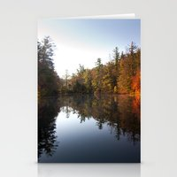 Mirrored Lake In Fall Stationery Cards