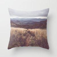 Bieszczady Mountains Throw Pillow