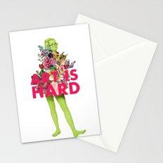 Art Is Hard - Flower Girl Stationery Cards