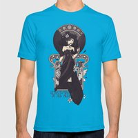 The Sound of Her Wings Mens Fitted Tee Teal SMALL