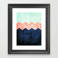 triple chevron (2) Framed Art Print