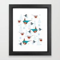 winter pattern3 Framed Art Print