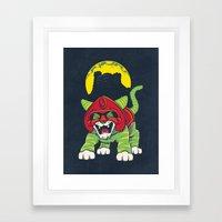Battle Kitty's Mighty RAWR!  Framed Art Print