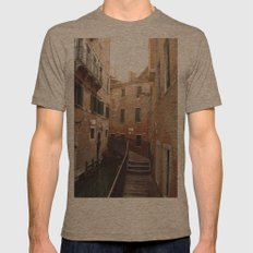 Venice Alley (Italy)--20… Mens Fitted Tee Tri-Coffee SMALL