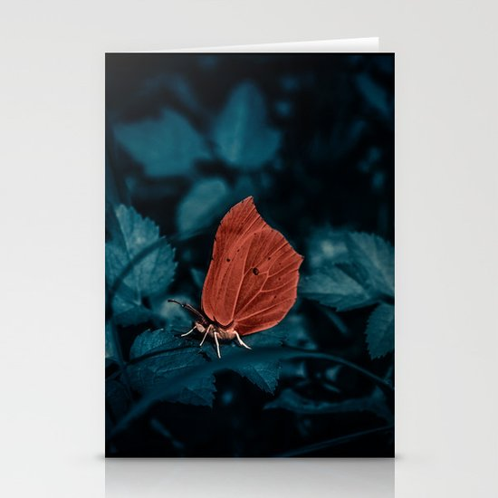 Red in the dark Stationery Card
