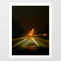 On the ave. Art Print