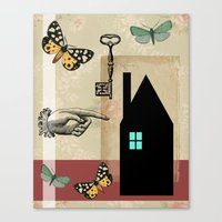 The House With The Turqu… Canvas Print