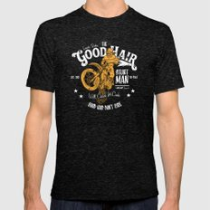 Ernesto Barba The Good Hair Stunt Man Mens Fitted Tee Tri-Black SMALL