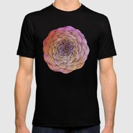Flower Mens Fitted Tee Black SMALL