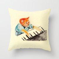 Watercolour Keyboard Throw Pillow