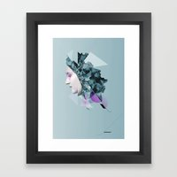 Faces Blue 04 Framed Art Print
