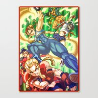 Pixel Art Series 17 : Ba… Canvas Print