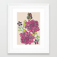 budding love Framed Art Print