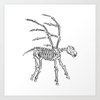 Pegasus Skeleton Art Print