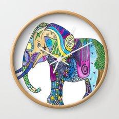 Elephant Profile Wall Clock