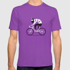 Let's ride Mens Fitted Tee Ultraviolet SMALL