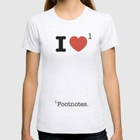 I Heart Footnotes Womens Fitted Tee Ash Grey SMALL