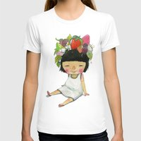 Spring  Womens Fitted Tee White SMALL