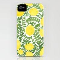 iPhone 4s & iPhone 4 Cases featuring The Fresh Lemon by haidishabrina