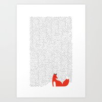 Black Grass Art Print
