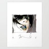 lady opiate Art Print