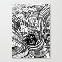 Into The Wild (b&w Versi… Canvas Print