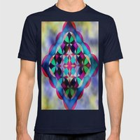 [Livid_Vivid] Mens Fitted Tee Navy SMALL