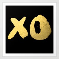 XO black Art Print