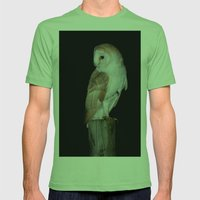 Barn Owl  Mens Fitted Tee Grass SMALL