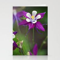 Columbines. Stationery Cards