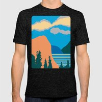 Mountains Mens Fitted Tee Tri-Black SMALL